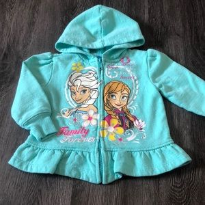Disney 2T Frozen Zip Front Hoodie